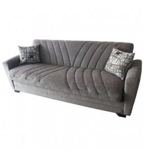 Sofa extensibilă 3 pers. DINAMIC de culoare brun deschis cu perne