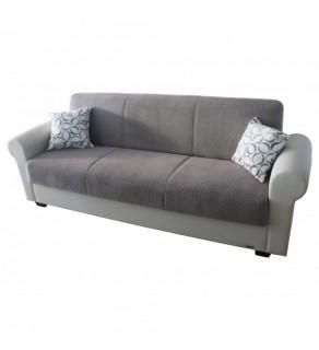 Sofa extensibilă 3 pers. DAFNE de culoare brun deschis cu perne in Iasi
