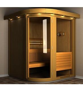 Saună Space Vision 250 interiors cu iluminare și uși