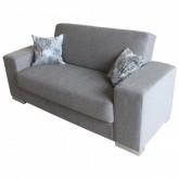 Sofa extensibilă 2 pers. FOREST GREY cu perne