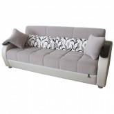 Sofa extensibilă 3 pers. ARYA CREAM cu pernute